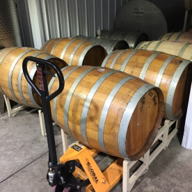 Beautiful oak barrels